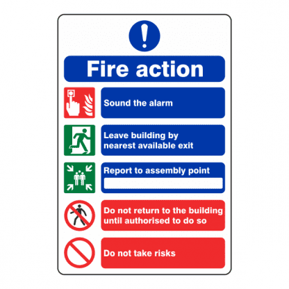 Fire Action Signs Image