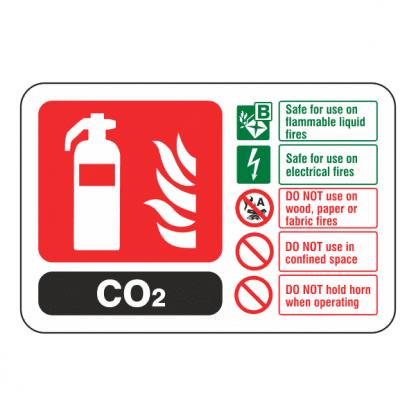 Carbon Dioxide Fire Extinguisher Sign